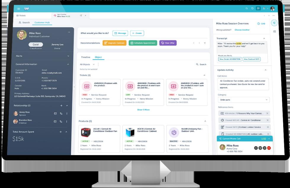 SAP Service Cloud を使用して、顧客にスムーズにサービスを提供